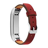 Punainen / Musta / Vihreä / Sininen / Vaaleanpunainen / Oranssi Nahka Perinteinen solki Varten Fitbit Katsella 10mm