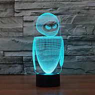 robot kontakt dimming 3D LED nattlys 7colorful dekorasjon atmosfære lampe nyhet belysning jul lys