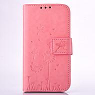 Mert Samsung Galaxy tok Pénztárca / Kártyatartó / Állvánnyal / Dombornyomott Case Teljes védelem Case Pitypang Kemény Műbőr SamsungGrand