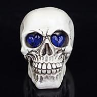 décorations 1pc Halloween nouveauté crânes de résine de jouets des yeux rougeoyants fantôme une lumière de nuit