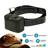 Cães Coleira anti-latido / Coleiras de Adestramento para Cães Anti Latido / Prova-de-Água / Recarregável / Vibração Sólido PretoPlástico