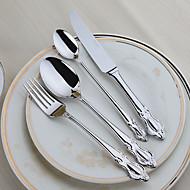 Rostfritt stål 304 Middagsgaffel / Middagskniv / Tesked / Specialsked Skedar / Gafflar / Knivar 4 st.