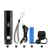 LED-Ficklampor / Ficklampor / Framlykta till cykel LED Cykelsport Bimbar / Vattentät / Laddningsbar / Enkel att bära 18650 400 Lumen