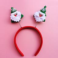 2PCS Christmas Headband Head Buckle Christmas Gift Gift Christmas Decorations Hoop Students(Style Random)