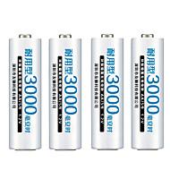 fulanka aa genopladelige batteri AA NiMH 1.2V 3000mAh Ni-MH 2a pre-opladet bateria genopladelige batterier til kamera