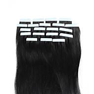 확장 아름다움 피부 씨실 20PCS에서 브라질 자연 인간의 머리카락 원활한 접착제에 16-18inch 흰색 금발 테이프