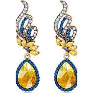 Viseće naušnice imitacija Sapphire Moda Kristal Dragulj Legura Oval Shape Plava Jewelry Za Vjenčanje Party Dnevno Kauzalni 1 par