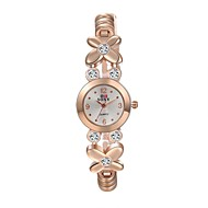 Women's Fashion Watch Casual Watch Water Resistant / Water Proof Quartz Alloy Band Flower Casual Elegant Gold Strap Watch