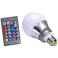 5W E14 / GU10 / B22 / E26/E27 Ampoules LED Intelligentes A60(A19) 1 LED Haute Puissance 500 lm RVBGradable / Commandée à Distance /