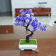 1 1 Afdeling Polyester Planter Bordblomst Kunstige blomster 23.8(9.4'')