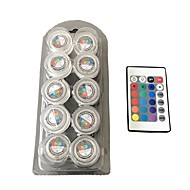 Waterdicht rond de kaarslicht / rgb / full color led lights 1box 10pcs