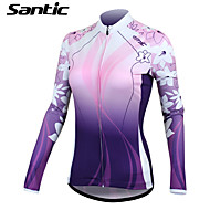 SANTIC® Cycling Jersey Women's Long Sleeve Bike Thermal / Warm / Quick Dry / Ultraviolet Resistant / Wearable / SunscreenJersey / Jacket