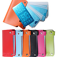 rechteckigen Stahlplatte Kartenpaket Beutel 24 Maniküre Platte Schablonenkarte enthält