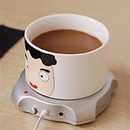 4 θύρα θερμάστρα κούπα τσάι usb hub φλιτζάνι θερμότερο γραφείου καφέ pad χαλί 2.5W 5V χειμώνα ποτό ζεστό υπολογιστή