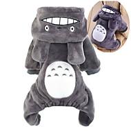 katten honden kostuums Hoodies Jumpsuits Bruin Grijs Roos Hondenkleding Winter Lente/Herfst Cartoon Schattig Cosplay