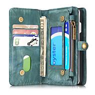Kompatibilitás iPhone 8 iPhone 8 Plus iPhone 7 iPhone 7 Plus iPhone 6 tokok Kártyatartó Pénztárca Ütésálló Flip Teljes védelem Case Tömör