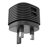 vinsic急速充電/マルチポートホーム充電器/ポータブル充電器英国のiPad onlyfor /携帯電話用/他のパッドのための2つのUSBポートの充電器を差し込みます