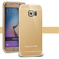 Mert Samsung Galaxy tok Galvanizálás / Tükör Case Hátlap Case Egyszínű PC SamsungS7 edge / S7 / S6 edge plus / S6 edge / S6 / S5 / S4 /