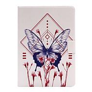For Med stativ / Flip Etui Heldækkende Etui Sommerfugl Blødt Kunstlæder for Apple iPad Air 2 / iPad Air / iPad 4/3/2