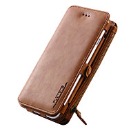 Kompatibilitás iPhone X iPhone 8 iPhone 7 iPhone 6 iPhone 5 tok tokok Pénztárca Kártyatartó Állvánnyal Teljes védelem Case Tömör szín