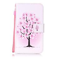 Για lg k10 k8 περίπτωση κάλυψης λουλούδι δέντρο ζωγραφική κάρτα stent pu δέρμα για k7 ls770 ls775 v20