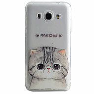 Mert Samsung Galaxy tok Minta Case Hátlap Case Cica Puha TPU Samsung J5 (2016) / J5 / J3 (2016)