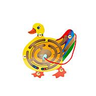 Educational Toy Maze & Sequential Puzzles Leisure Hobby Novelty Duck Wood Yellow