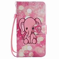 Lg k10 k7 tokra rózsaszín elefánt festett nyakpánt pu telefon tok nexus 5x lss775 xpower