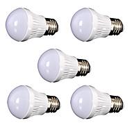 9W E26/E27 Ampoules Globe LED 30 SMD 2835 800 lm Blanc Chaud Décorative AC110 V 5 pièces