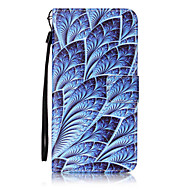 For Samsung Galaxy J7 J5 J3 J1 (2016) J1Mini I9060 ON5 Case Cover Blue Flowers Pattern Painting Card Stent PU Leather
