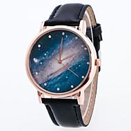 Dames Dress horloge Modieus horloge Polshorloge Kwarts Kleurrijk PU Band Vintage Bohémien Bedeltjes Cool VrijetijdsschoenenZwart Wit