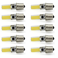 9W E17 LED-kohdevalaisimet T 1 COB 350 lm Lämmin valkoinen / Kylmä valkoinen Koristeltu V 10 kpl