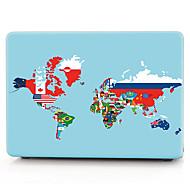 wereld vlag kaart patroon macbook computer case voor de MacBook air11 / 13 pro13 / 15 pro met retina13 / 15 macbook12