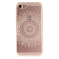 Mert iPhone 7 tok iPhone 6 tok IMD Case Hátlap Case Mandala Puha TPU mert AppleiPhone 7 Plus iPhone 7 iPhone 6s Plus/6 Plus iPhone 6s/6