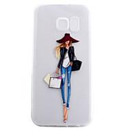 Voor Transparant / Patroon hoesje Achterkantje hoesje Sexy dame Zacht TPU voor Samsung S7 edge / S7