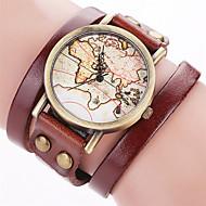 Damskie Modny Zegarek na nadgarstek Zegarek na bransoletce Kwarcowy Punk Kolorowy Duża tarcza Skóra PasmoPostarzane Słodycze Artystyczny