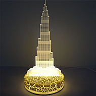 אור אקריליק שולחן החג קישוט דובאי אשליה מגדל 3D LED