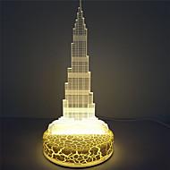 Holiday Decoration Dubai Tower 3D Led Illusion Table Acrylic Light