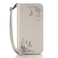Mert Kártyatartó Állvánnyal Flip Case Teljes védelem Case Virág Kemény Műbőr mert HTC HTC Desire 826 HTC Desire 626