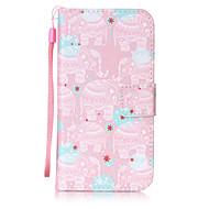 Voor Samsung Galaxy S3 S4 case cover gunstig olifant patroon schilderen kaart stent pu leer