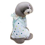 犬用品 コート パーカー ジャンプスーツ 犬用ウェア 冬 水玉 キュート 保温 ベージュ ブルー