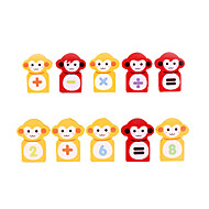 For Gift  Building Blocks Monkey Wood Toys
