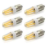2W E14 LED-lamper med G-sokkel T 4 COB 190 lm Varm hvid / Kold hvid Dekorativ AC 220-240 V 6 stk.
