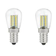5W E14 LEDボール型電球 C35 104PCS SMD 3014 500 lm 温白色 / クールホワイト 装飾用 交流220から240 V 2個