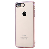 ROCK For Shockproof / Transparent Case Back Cover Case Solid Color Hard PC for Apple iPhone 7 Plus / iPhone 7