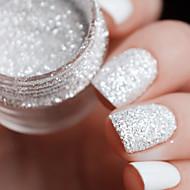 10ml/Box Nail Art Glitter Tips White Silver 1mm & 2mm & 3mm Mixed Accessories