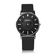 Unisex Modeur Armbåndsur Quartz Vandafvisende PU Bånd Afslappet Sort Sølv Hvid Sort Sort/Hvid Sort / grå