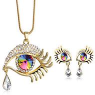 Damskie Zestawy biżuterii Kryształ Modny Kropla Złe oko 1 Naszyjnik 1 parę kolczyków Na Impreza Codzienny Casual Prezenty ślubne