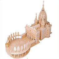 Jigsaw Puzzles Wooden Puzzles Building Blocks DIY Toys Saint Peter's Basilica 1 Wood Ivory Model & Building Toy