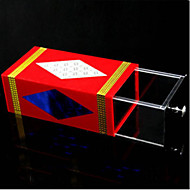 Magic Prop Leisure Hobby Square Metal Red For Boys / For Girls